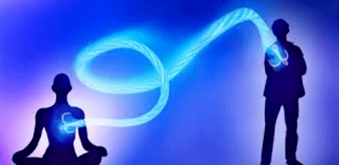 energetic cord on heart chakra level